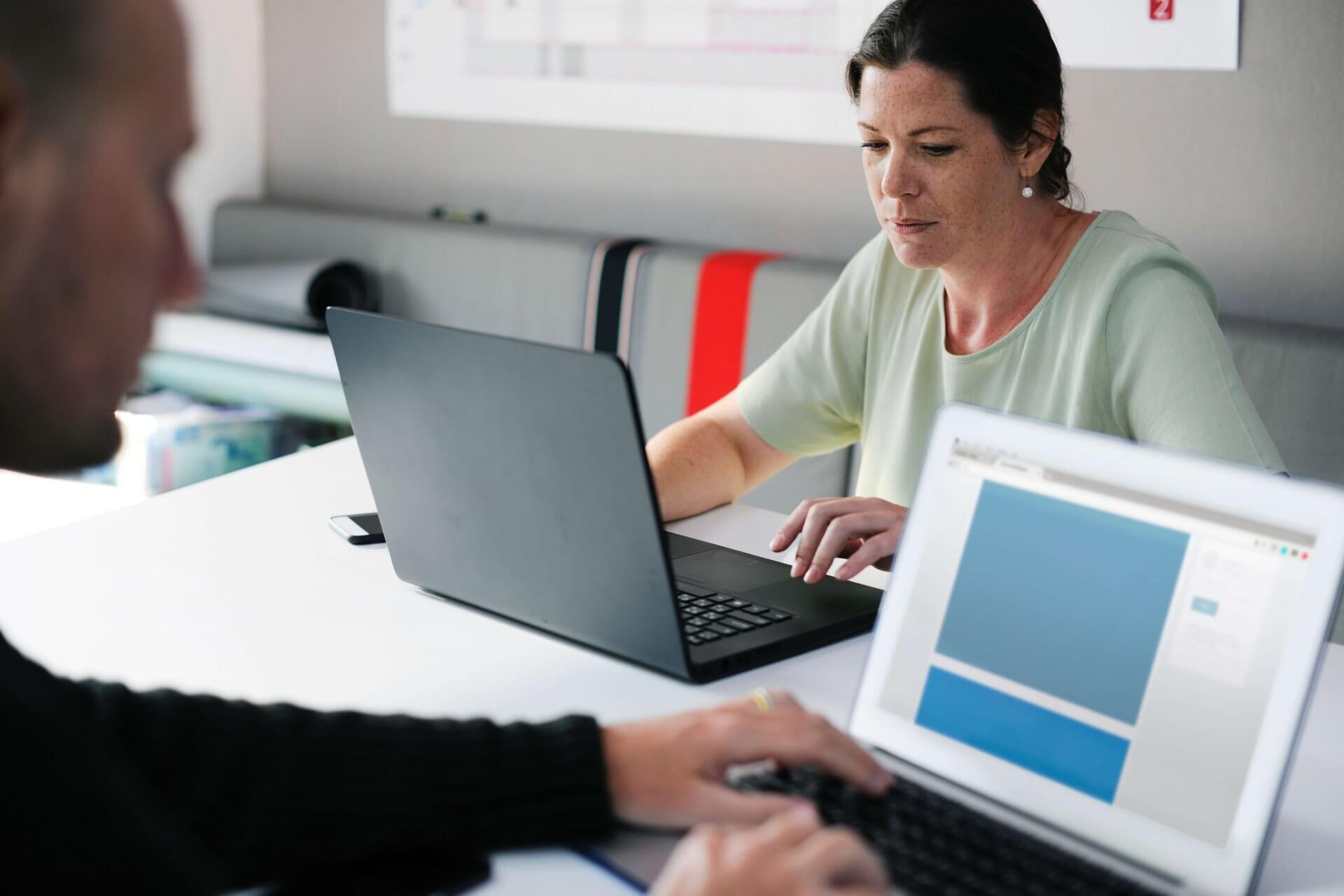 Returnships - woman working